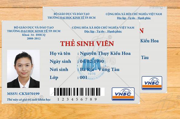 Nơi in thẻ nhựa cho sinh viên giá cực sock