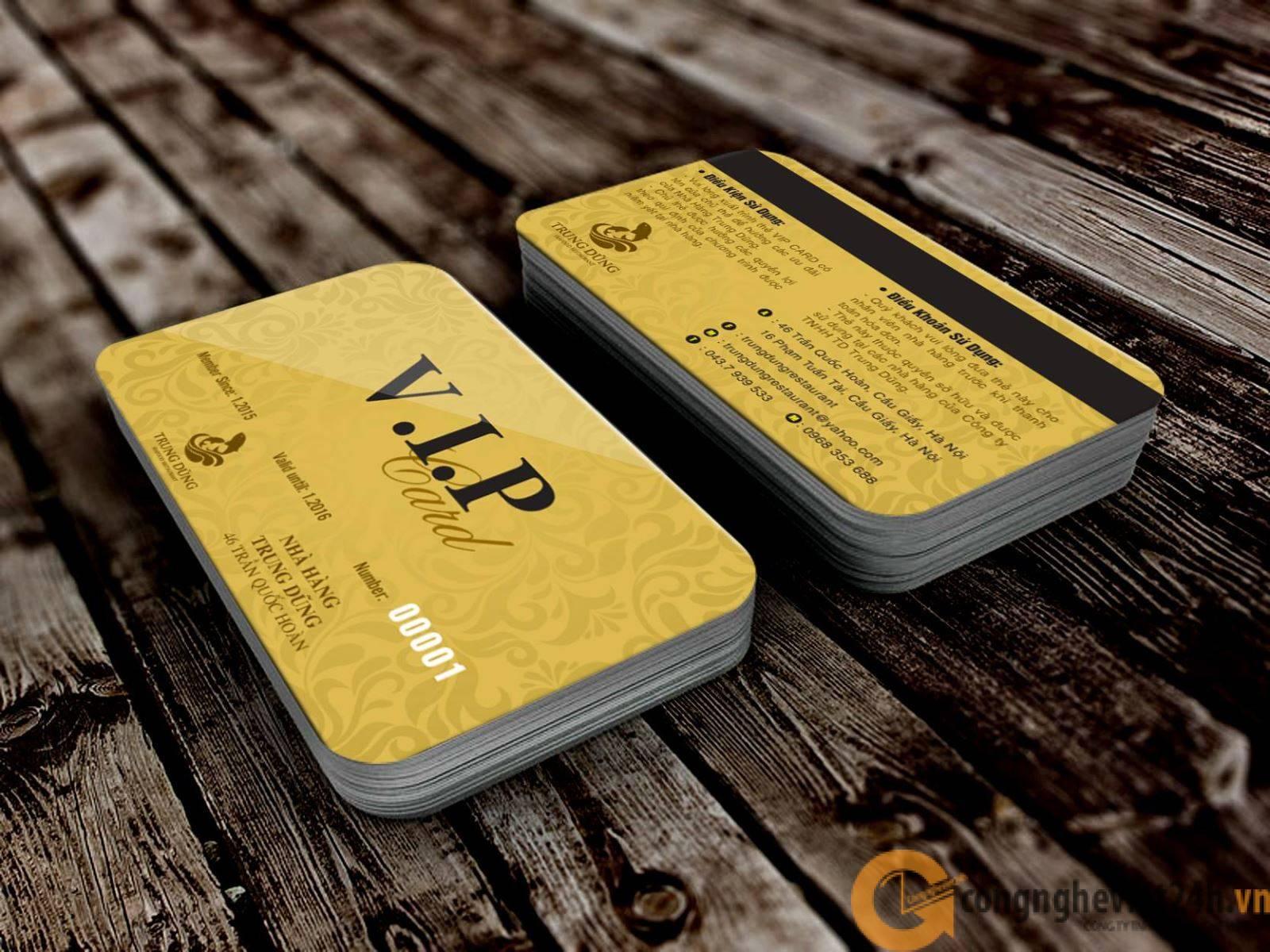 IN THẺ VIP CARD CHUYÊN NGHIỆP